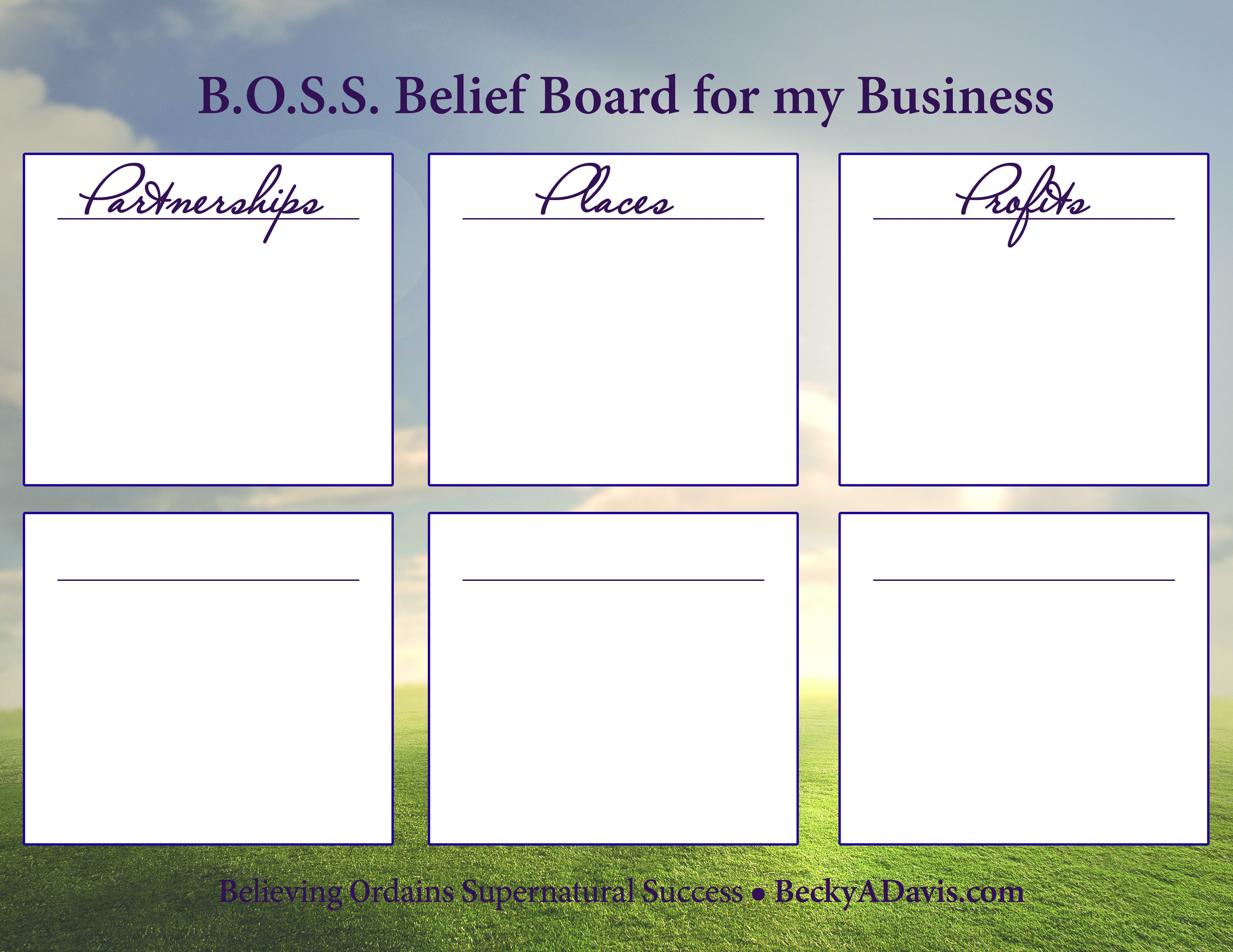 Boss Belief Board for Business